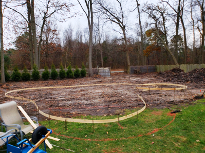 Layout process of new pool