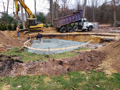 Digging of new pool